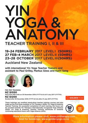 2017 Yin Yoga Anatomy Teacher Training Poster