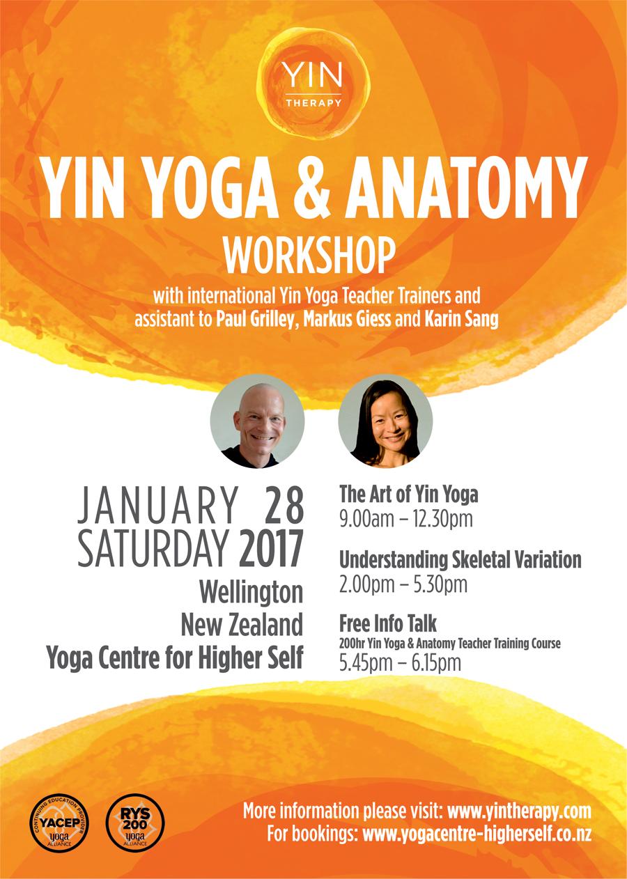 Yin Therapyyin Yoga Anatomy Workshop English Wellington New