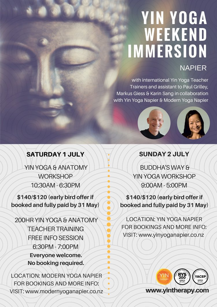 Yin Yoga Weekend Immersion Napier