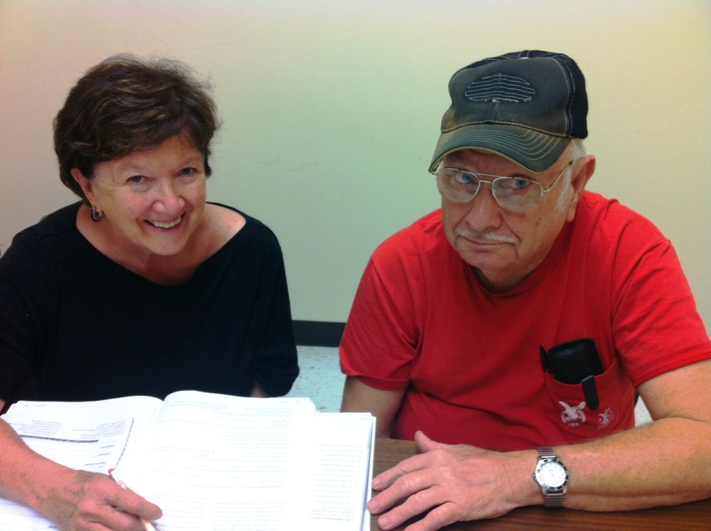 When Janie retired from teaching, she found time to volunteer!