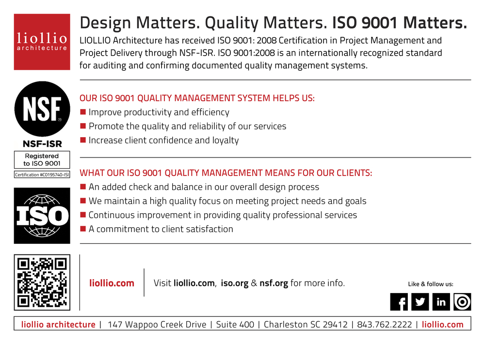 Iso 90012008 Certification Info Card Liollio Architecture
