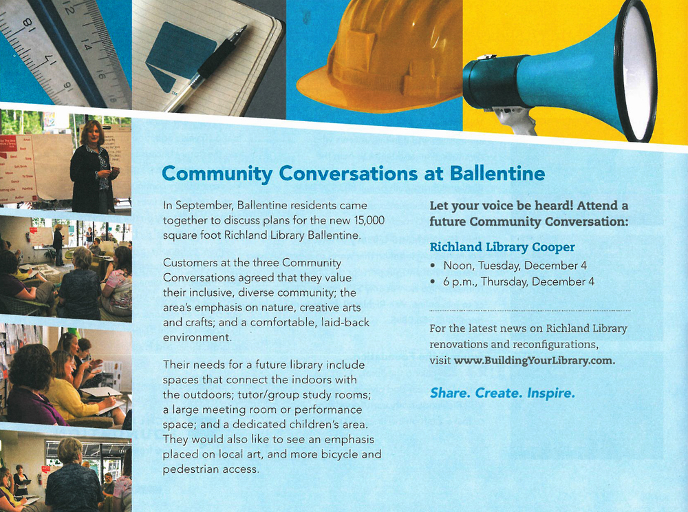 LIOLLIO made the construction update section of the monthly Richland Library Access publication.