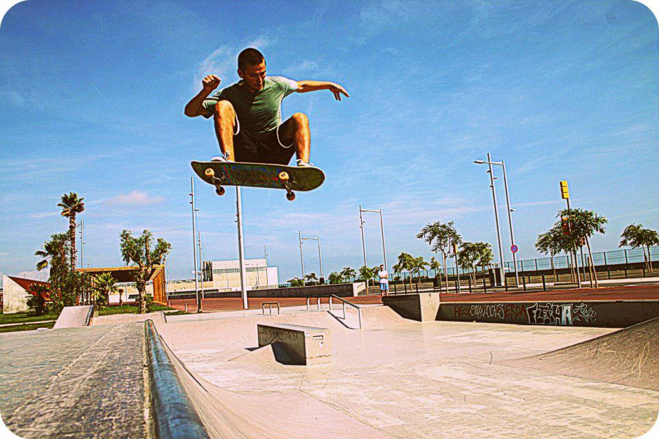 I grew up skateboarding, and while I don't do it as often as I would like now, it has always been a creative outlet for me. This photo was taken in Barcelona, which is often referred to as the skateboarding capital of the world. Kendall Roberts