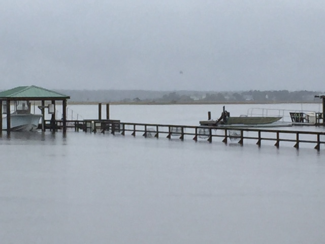 High tide Saturday on the Stono River.