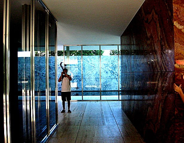 me taking photos in the barcelona pavilion.jpg