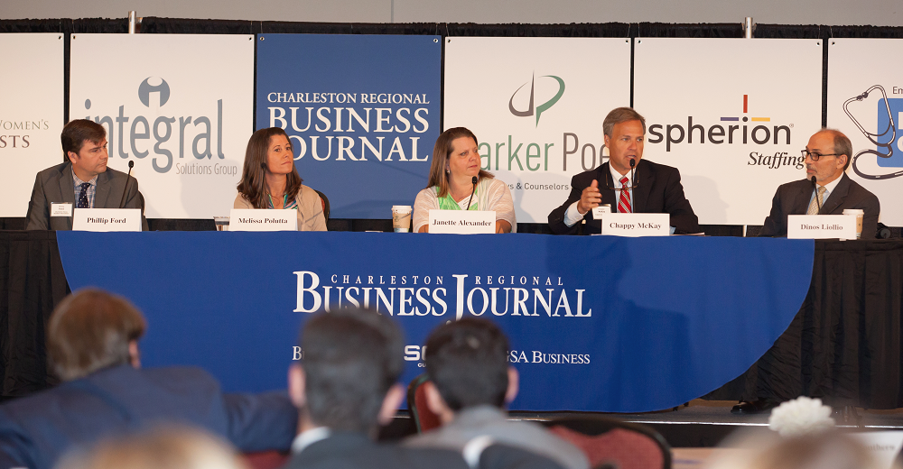 Principal Dinos Liollio joined panelists at the Charleston Regional Business Journal's Power Breakfast last Thursday. Panelists discussed how the Lowcountry seems to have recovered from the recession and is now seeing the effects of pent-up demand for capital projects.