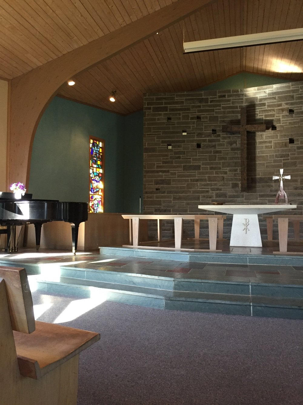 Our chapel seats 200 guests with 40 additional possible in our chapel extension room.