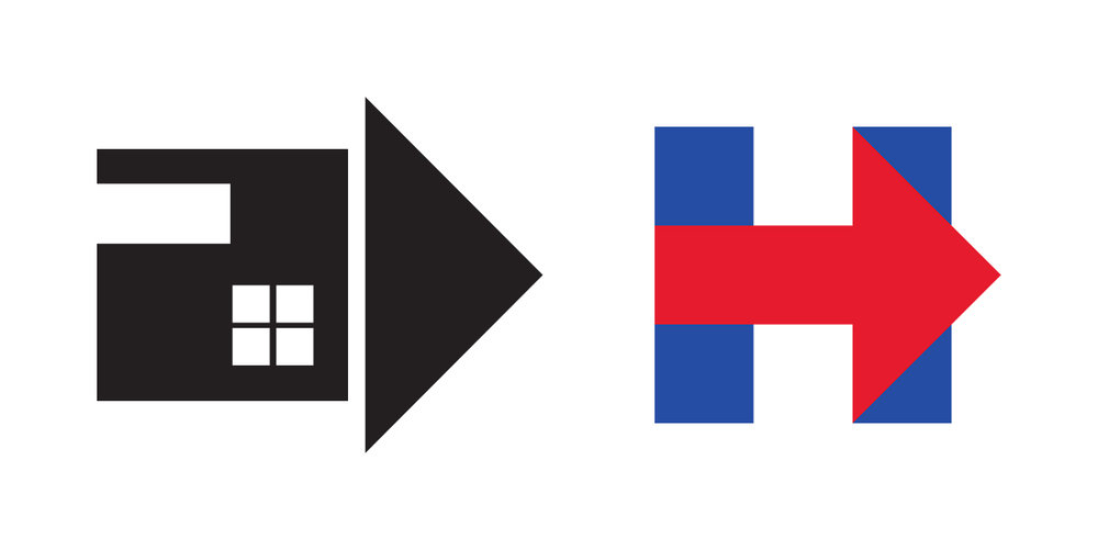 Stranger Homes logo vs. Hillary campaign logo