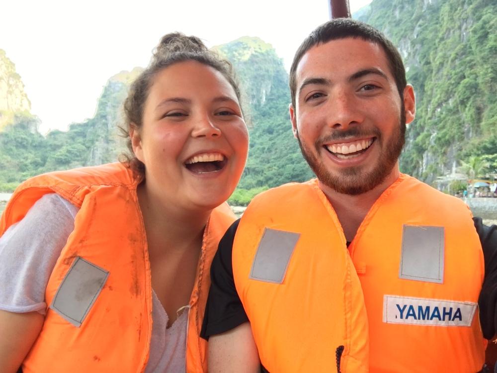 Life vest selfies