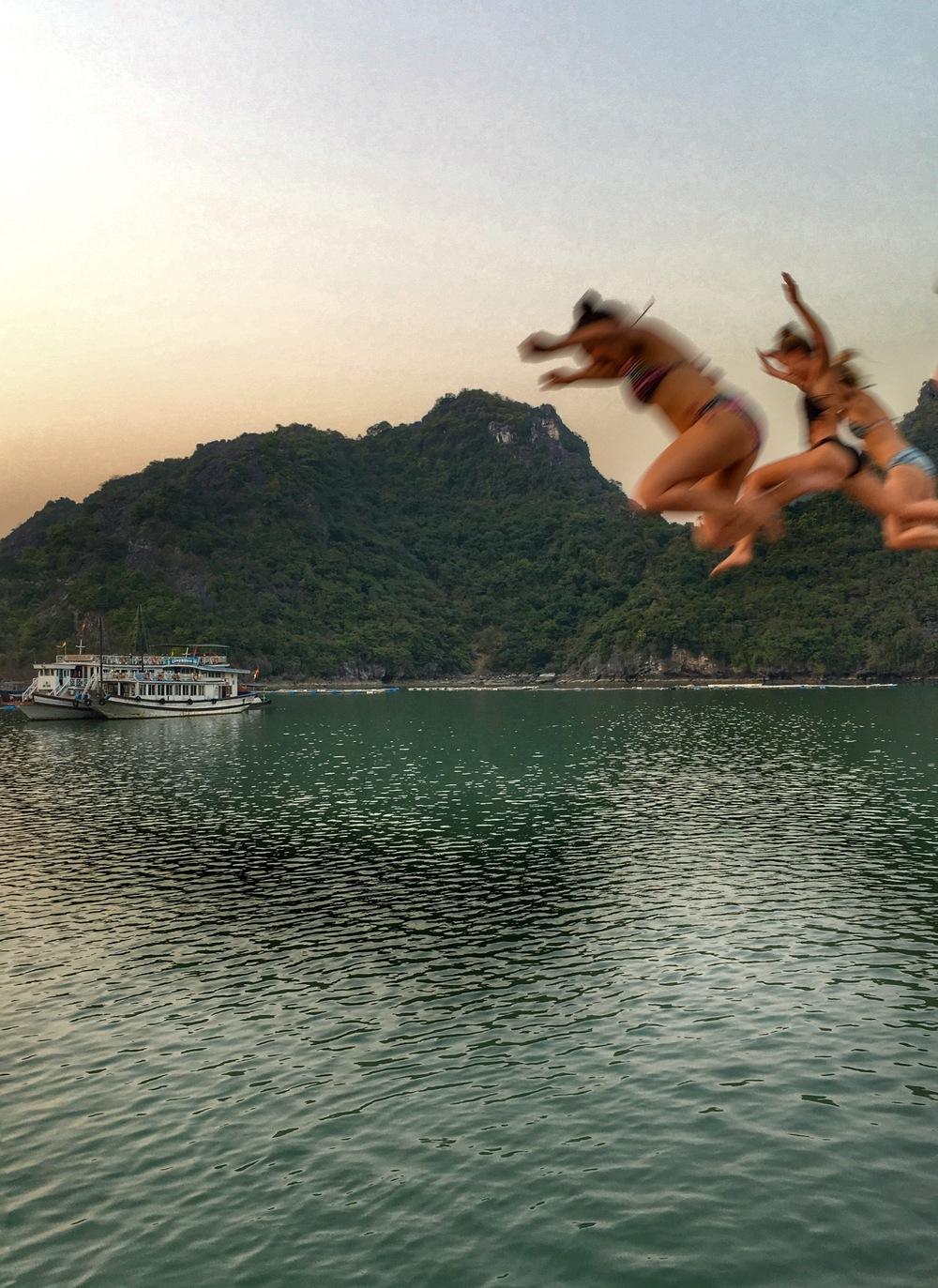 Sunset jumps