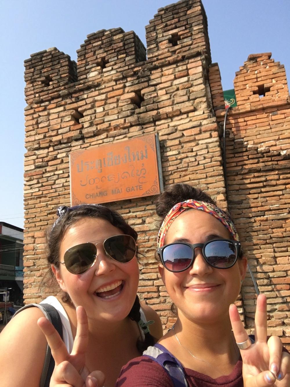 gotta selfie at the Chiang Mai gate