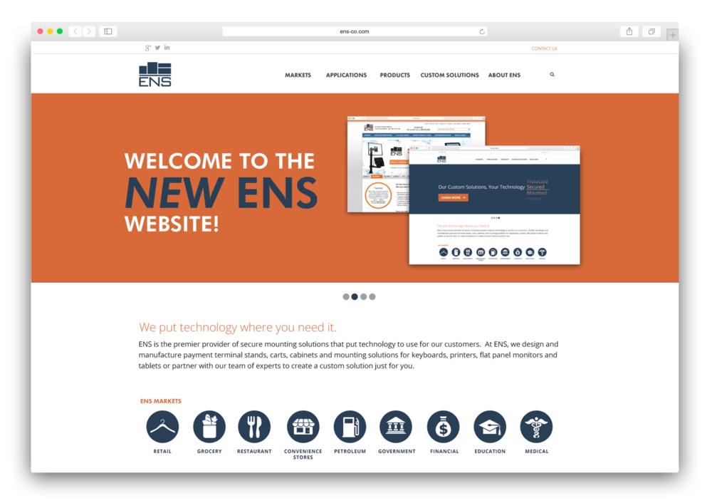 New ENS Corporate Website