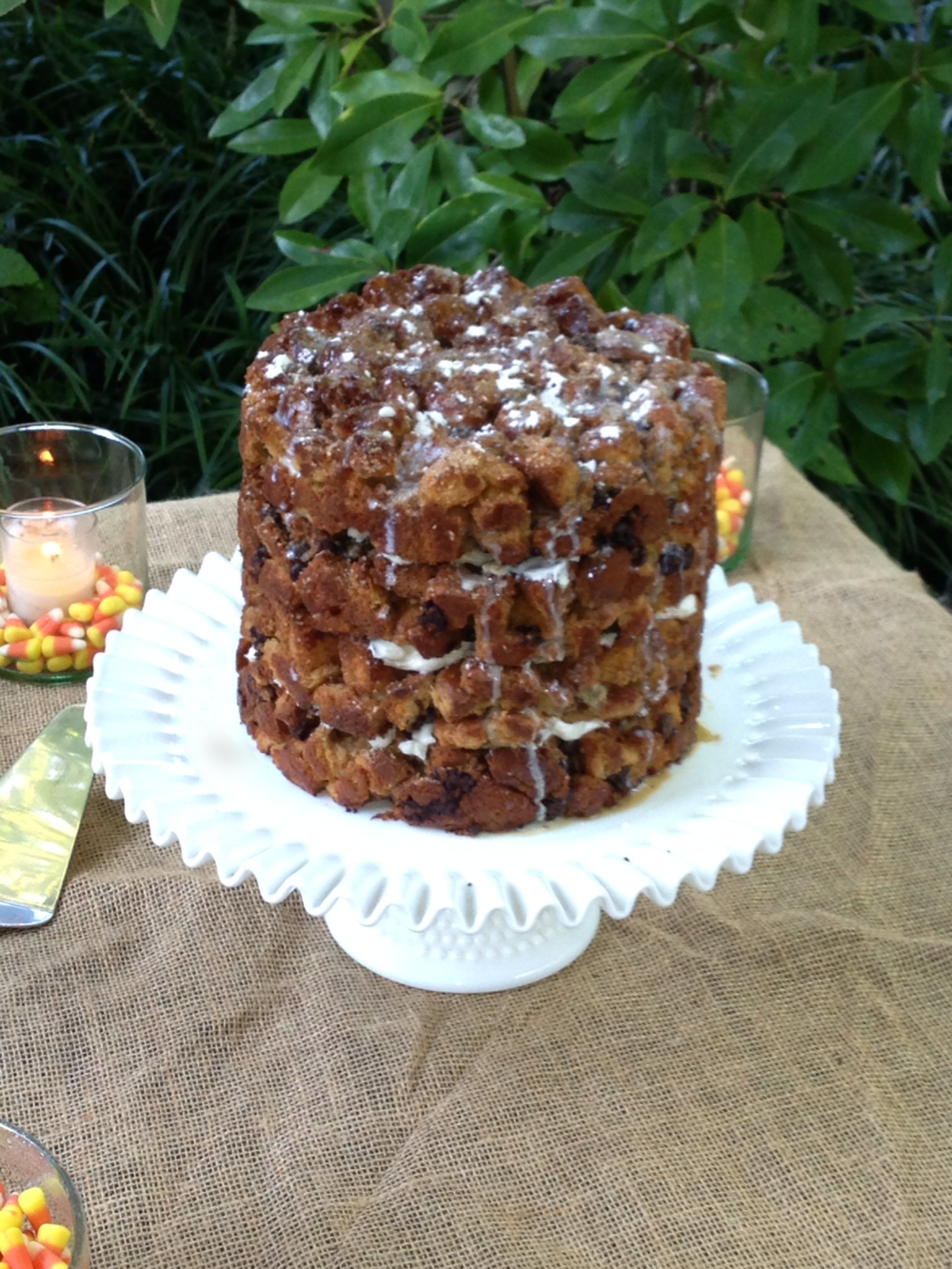 "Chocolate Bourbon Bread Pudding Cake    (8"" - 4 layered cake pictured)"