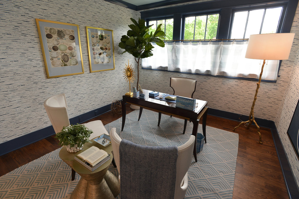 Home office in the 2016 O'More College of Design Show House   Savage Interior Design