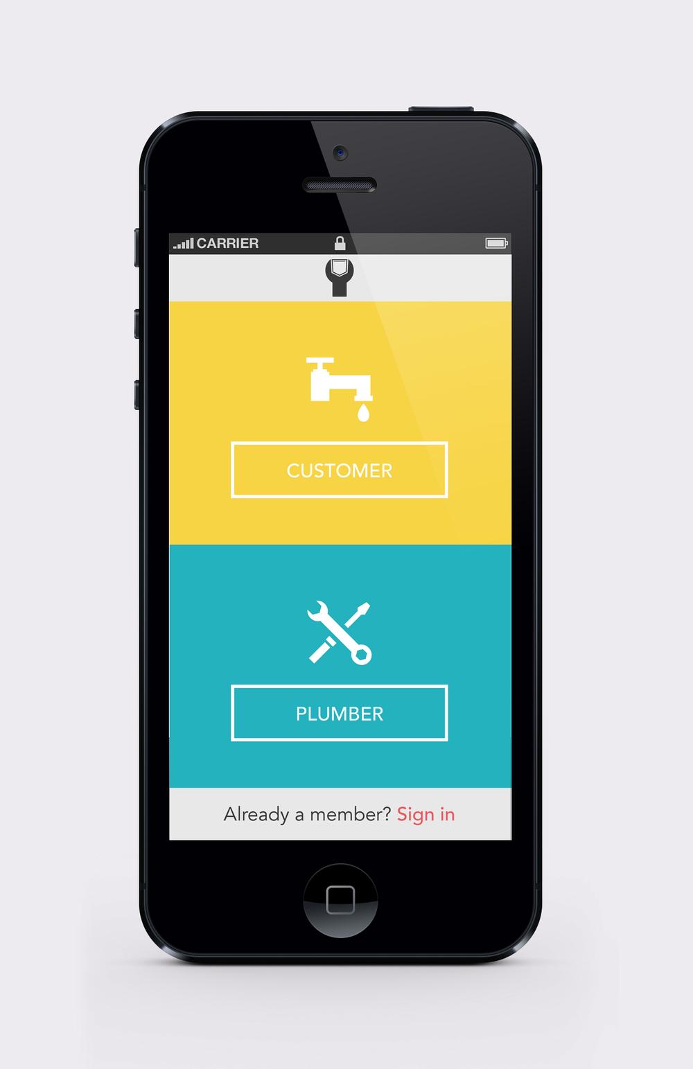 Pocket Plumber home screen
