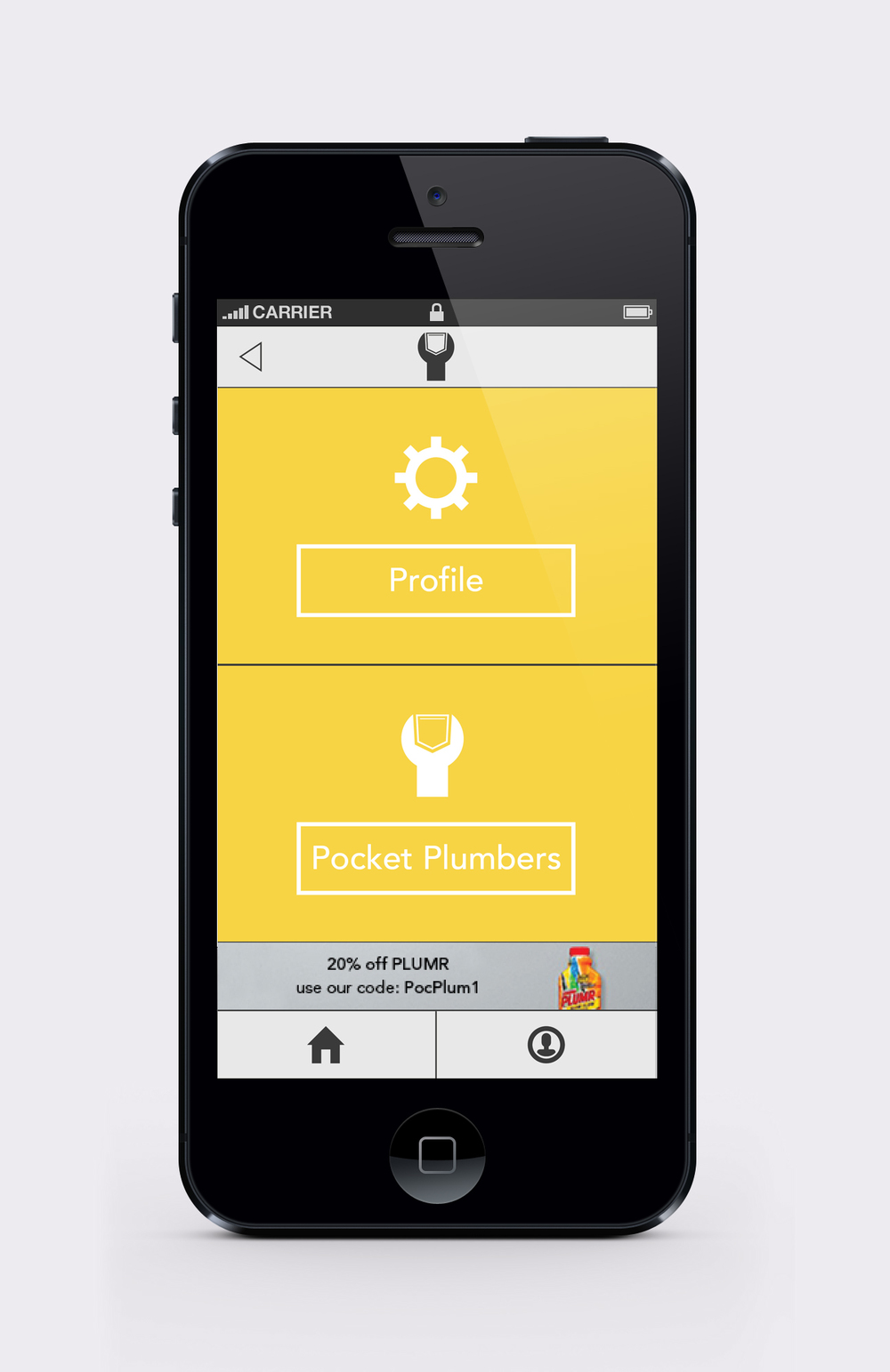 Pocket Plumber customer settings screen