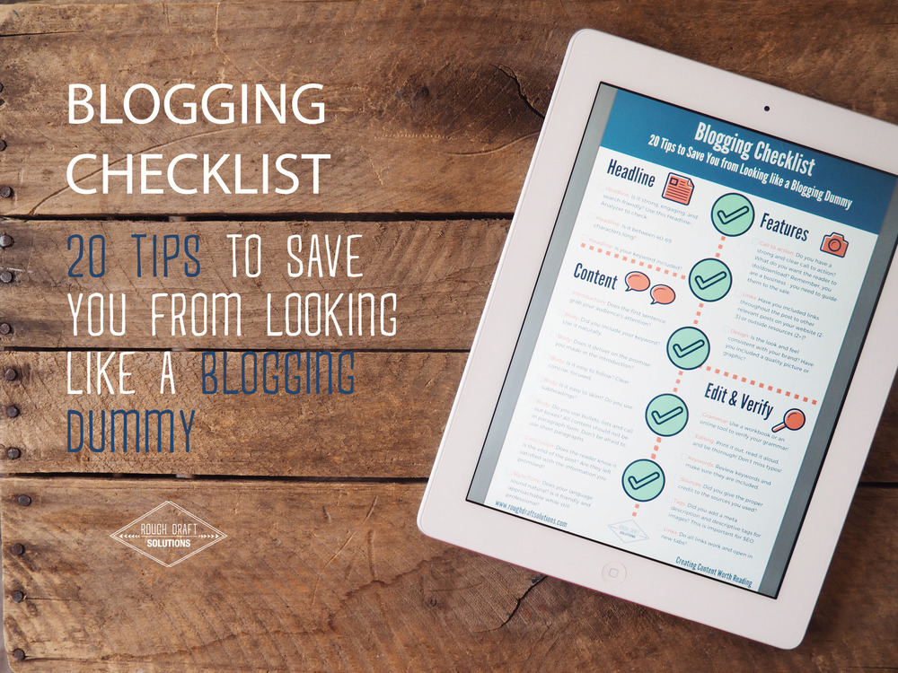 Blogging Checklist Tips