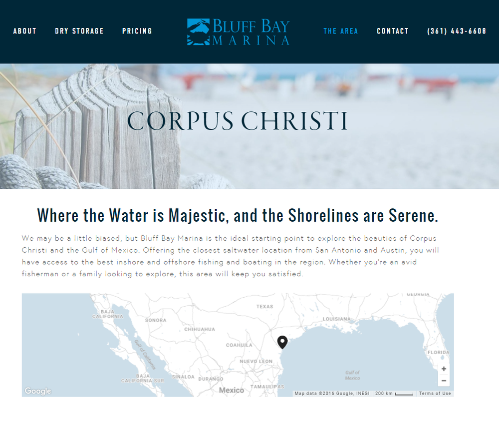 Bluff Bay Marina - The Area Content - Rough Draft Solutions