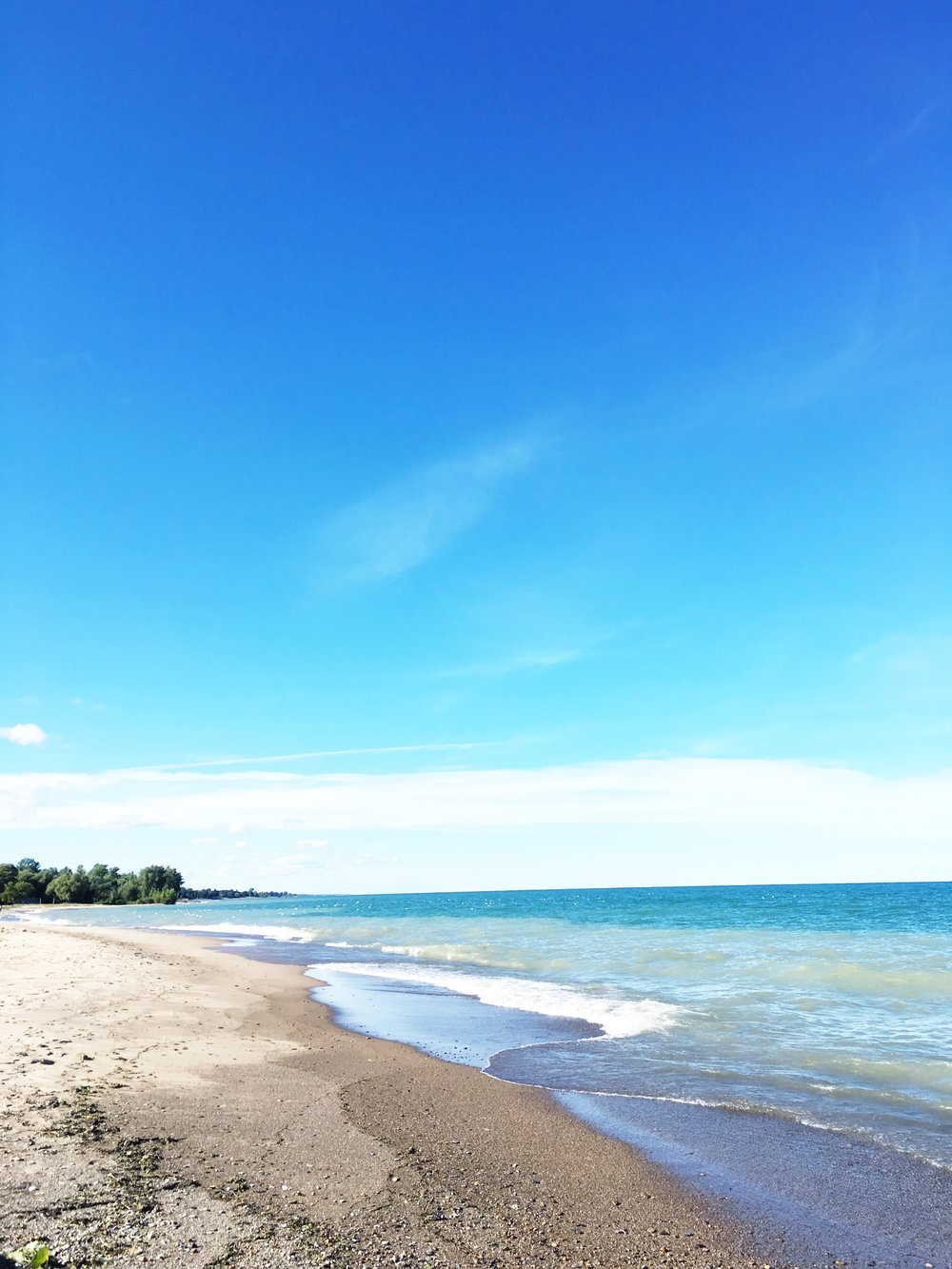 I got to visit Lake Huron for the first time on Sunday! We weren't there very long, but I loved being by the water and hearing the sound of the waves crash on the shore.