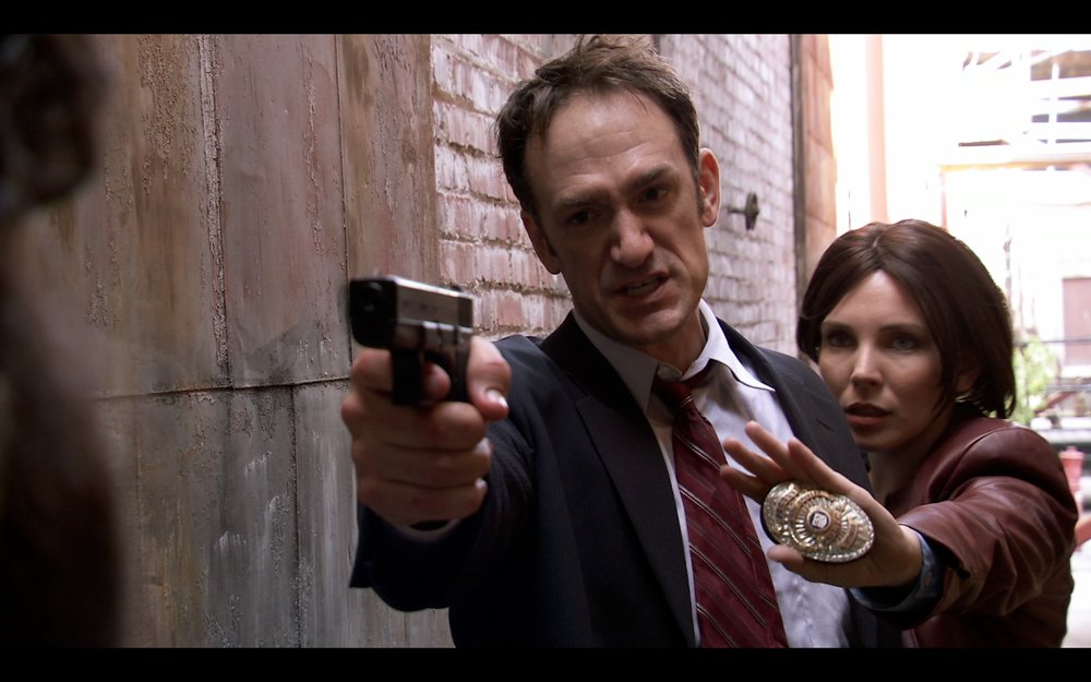 "Seth Morris and June Diane Raphael in ""United States Police Department"""