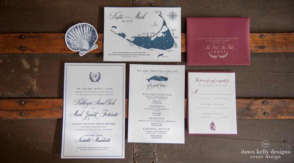 Stationery — Dawn Kelly Designs - Nantucket Wedding & Event Design ...