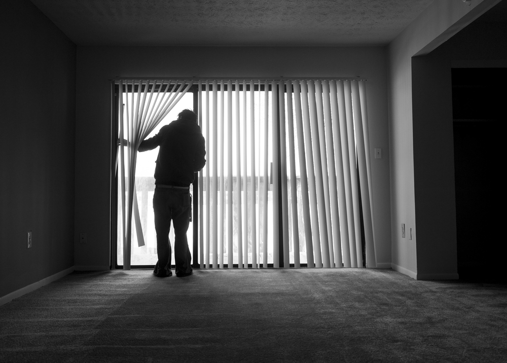 In early 2014 Ryan's parents divorced after 22 years of marriage. Ryan decided to move out on his own as his parents battled in the courts for custody over his younger siblings. Here Ryan checks out the interior of an apartment he would eventually rent on the edges of Columbus, Ohio.