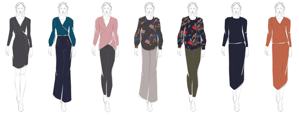 Initial Design Line Sketch; Fall 2018, Teat & Cosset