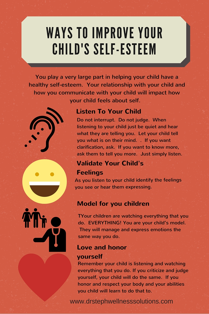 Your actions and how you express your emotions can help your child develop a healthy self-concept.