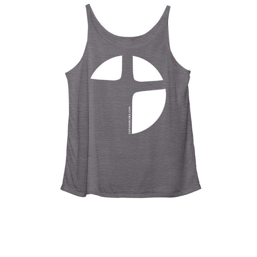 Women's Slouchy Tank - Grey Triblend