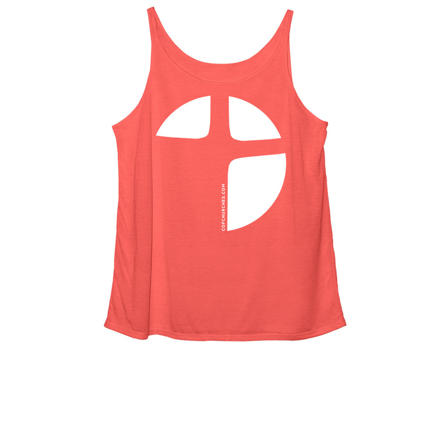 Women's Slouchy Tank - Red Triblend