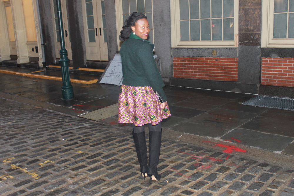 Dress: Madame Wokie, Made in Sierra Leone                                                                       Boots: Forever 21, available  here                                                                   Jacket: French Connection, available  here                                                                                       Cardigan: Old, Similar  here       More Pics from the Table for 6 event below, click on the first image to browse the gallery. Do you recognize any of the participants?