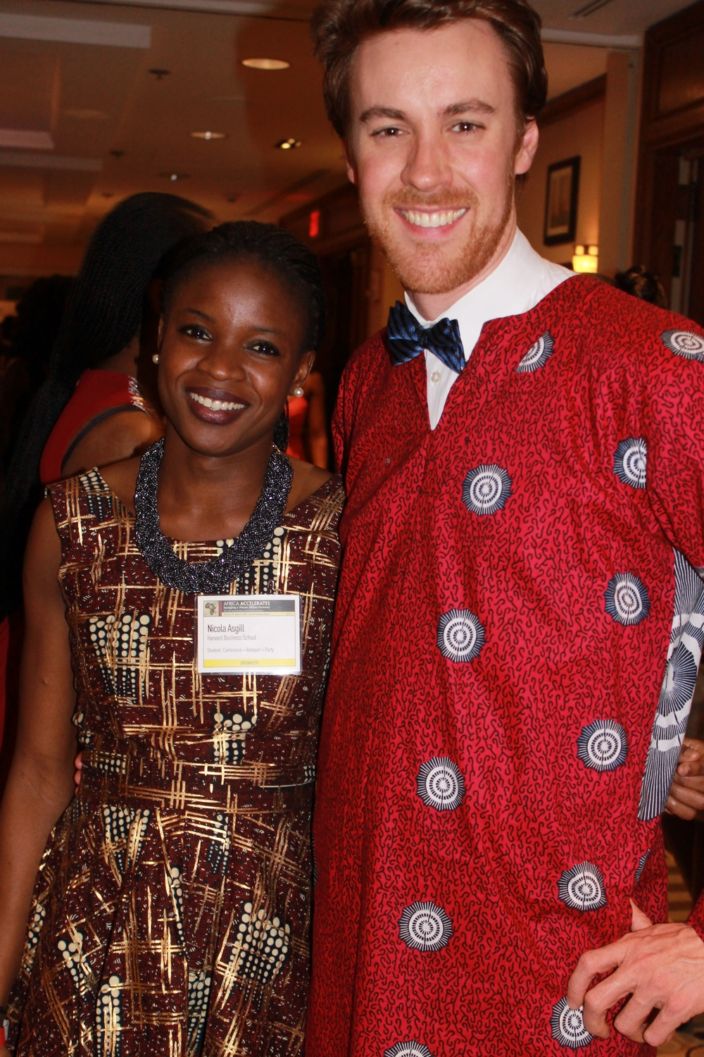 Same guy pictured with Nicola Asgill of  Evoque Magazine , who is also rocking a  Madam Wokie  design. Sierra Leone was beautifully represented at HBSABC.