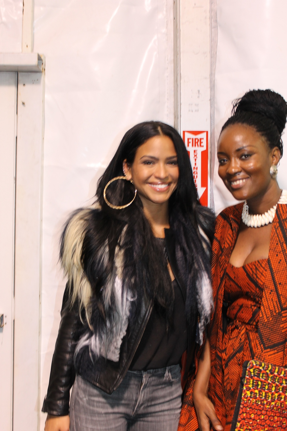 We caught up with the beautiful Cassie backstage.