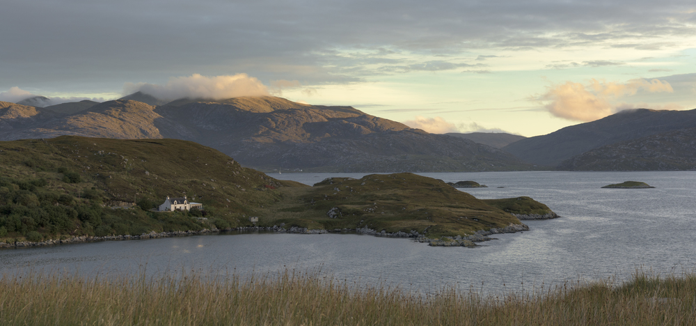 Looking over East Loch Tarbert where I had just came in on the ferry as the sun slowly rises.