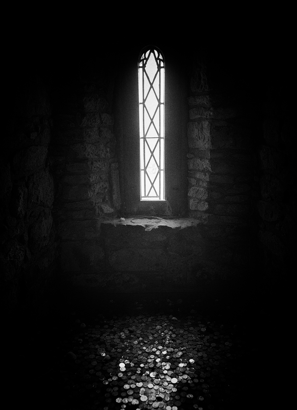 A window in the Tower of St. Clements Church, South Harris.