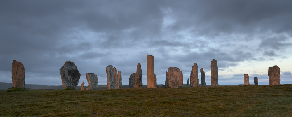 The ancient standing stones of Callandish, Lewis.