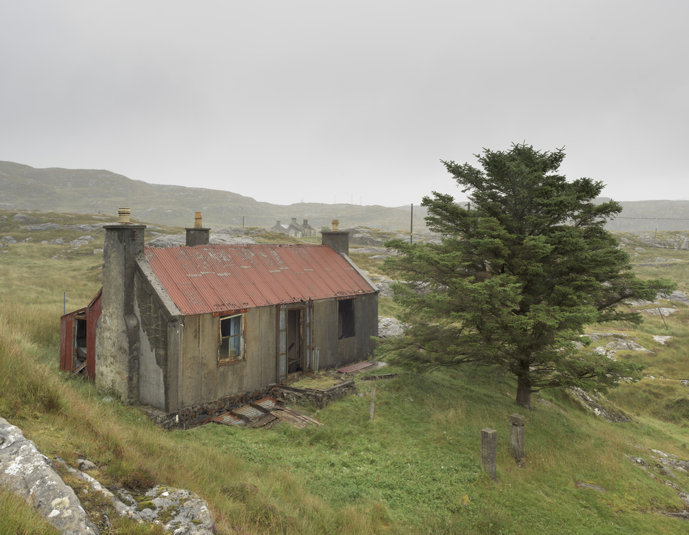 The derelict croft house sadly sits in what once would have been a place of happiness and beauty, Geocrab, South Harris.