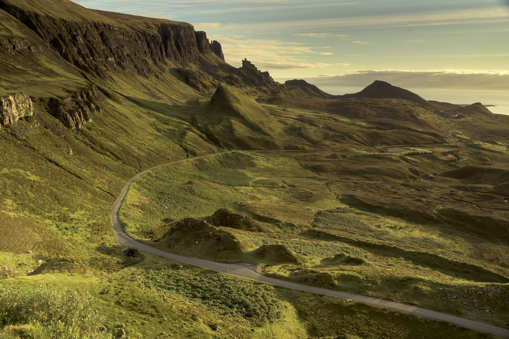 The road home from the Quirang, Skye.