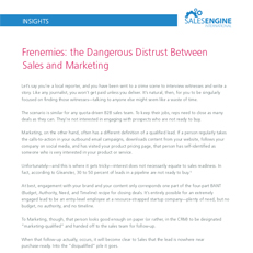 Frenemies: the dangerous distrust