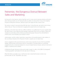 Frenemies: the dangerous distrust