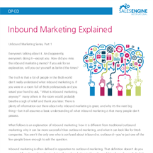 Inbound Marketing Explained - Sales Engine Media