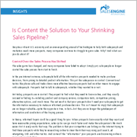 Is Content the Solution to Your Shrinking Sales Pipeline?
