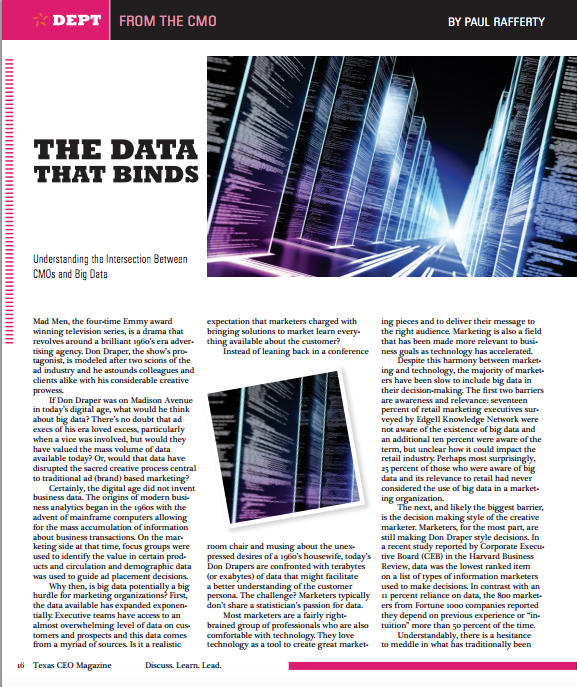 THE DATA THAT BINDS: UNDERSTANDING THE INTERSECTION BETWEEN CMOS AND BIG DATA