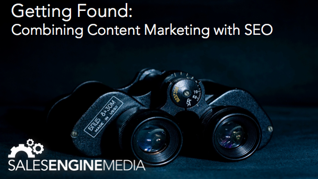 Combining content marketing with SEO.