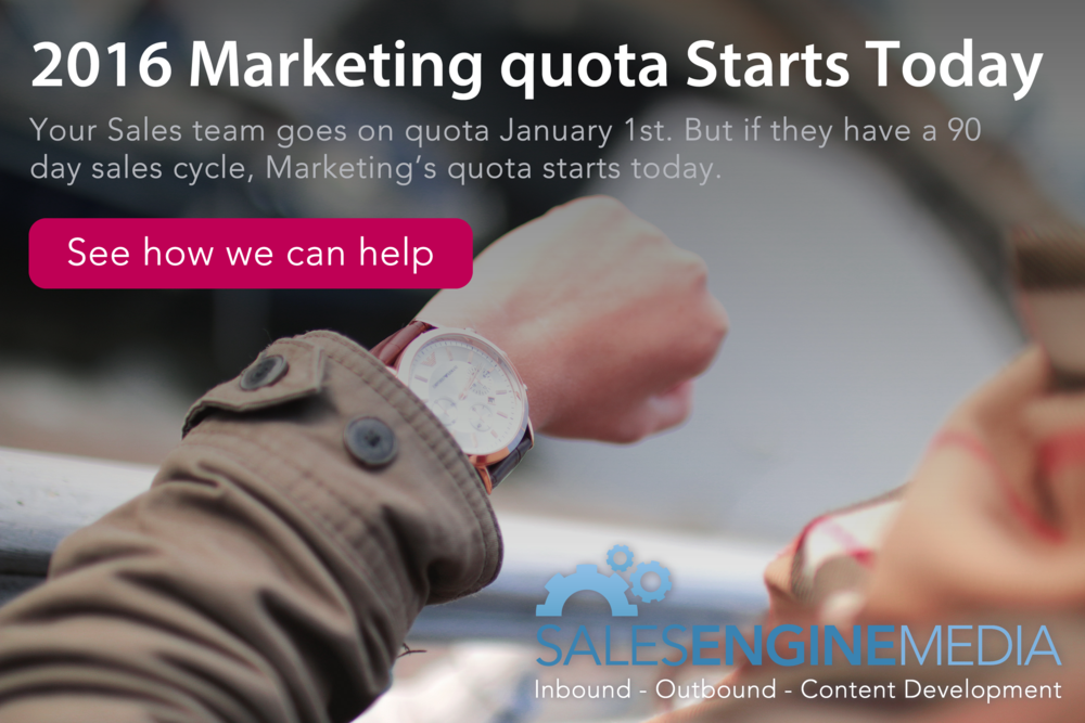 2016 Marketing Quota Starts Today