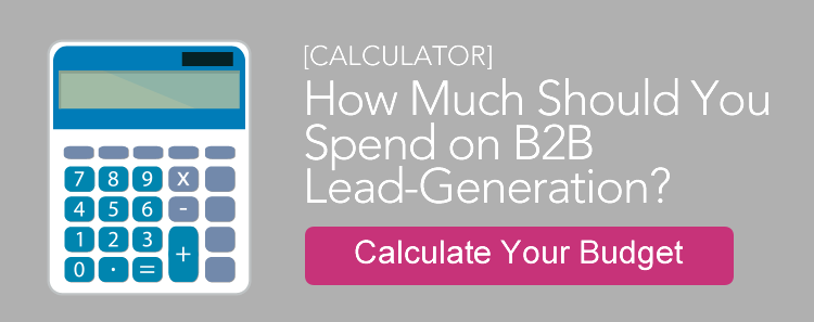 CTA How much should you spend on B2B lead-gen