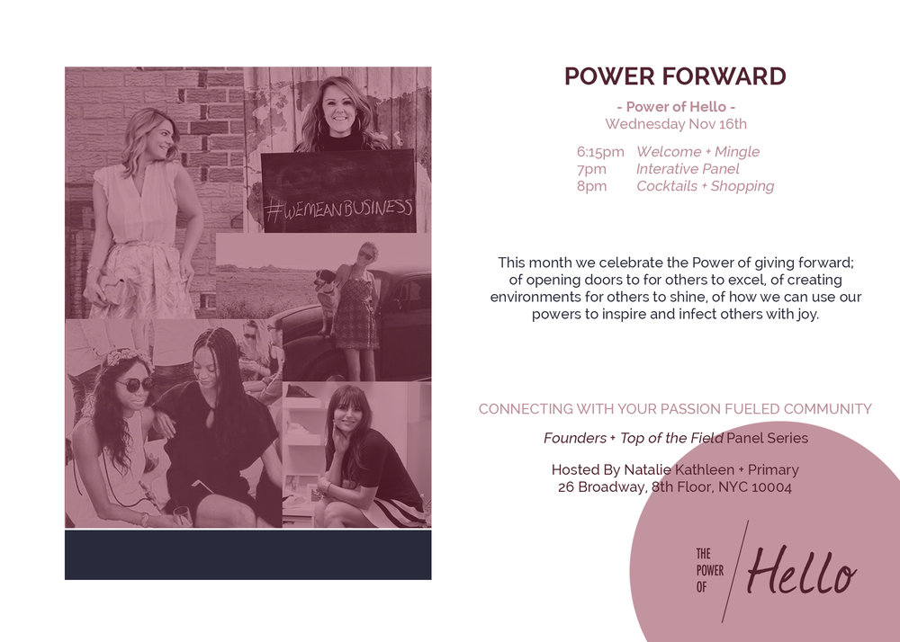 Power Of Hello // Natalie Kathleen Jaclynn Brennan Suwana Perry Monica Watkins Mary Gray Carol Cook