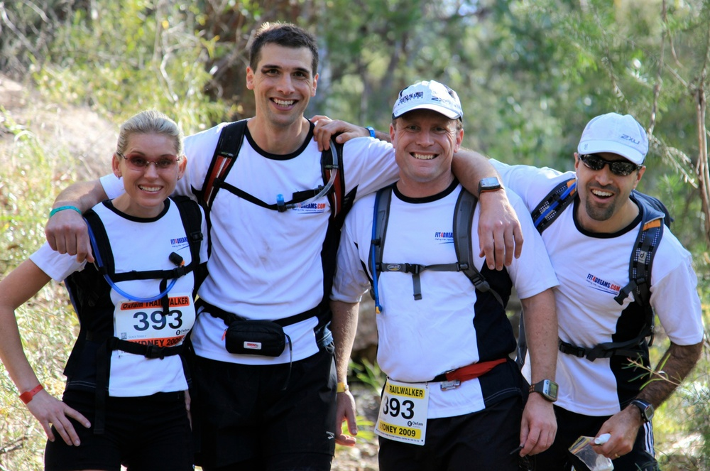 Endurance Star Nick Harvey 2nd from left in the Fit4Dreams Trailwalker 100km running team