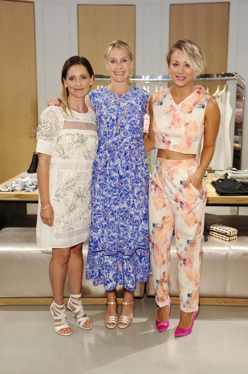 Sarah Michelle Gellar, Rebecca Taylor and Kaley Cuoco all wearing Rebecca Taylor. (Kaley's shoes are amaze!)