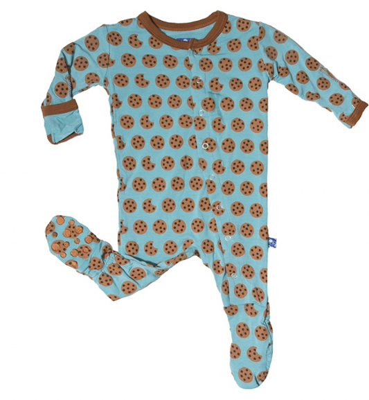 "Kickee Pants Footed PJ in ""Glacier Cookie"""